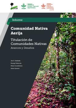 Comunidad Nativa Aerija: Estudio Titulacion de Comunidades Nativas –  Avances y Desafios
