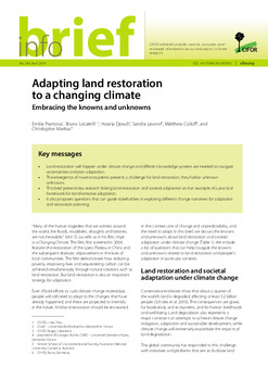 Adapting land restoration to a changing climate: Embracing the knowns and unknowns