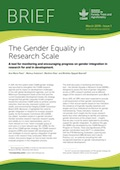 The Gender Equality in Research Scale: A tool for monitoring and encouraging progress on gender integration in research for and in development