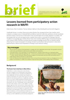 Lessons learned from participatory action research in WAFFI