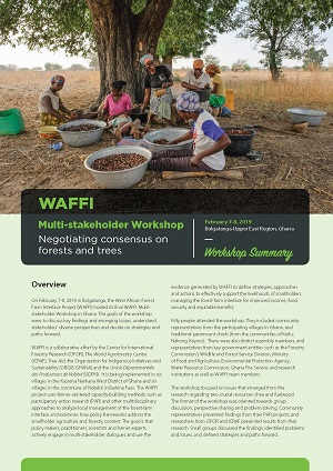 WAFFI Multi-stakeholder Workshop: Negotiating consensus on forests and trees