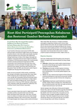 Riset Aksi Partisipatif Pencegahan Kebakaran dan Restorasi Gambut Berbasis Masyarakat