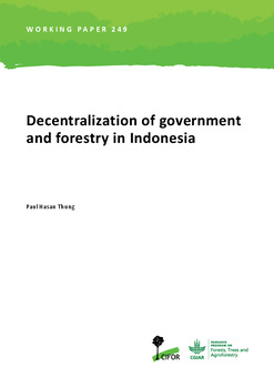 Decentralization of government and forestry in Indonesia