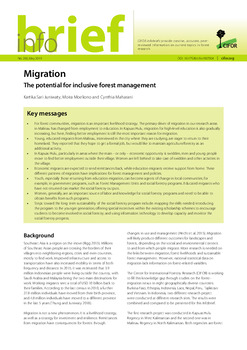 Migration: The potential for inclusive forest management