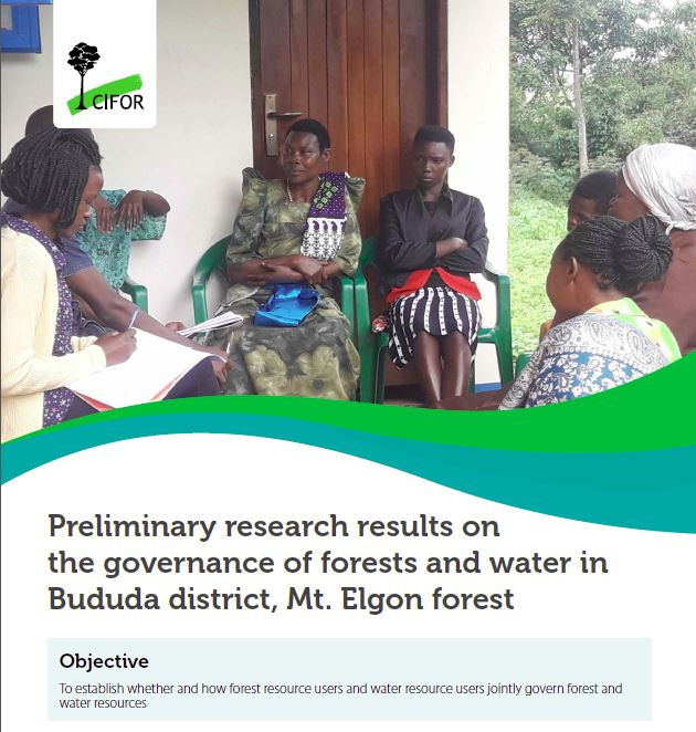 Preliminary research results on the governance of forests and water in Bududa district, Mt. Elgon forest