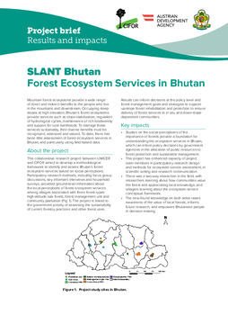 SLANT Bhutan: Forest Ecosystem Services in Bhutan