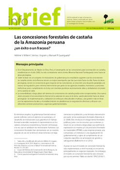 Las concesiones forestales de castaña de la Amazonía peruana: ¿un éxito o un fracaso?