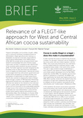 Relevance of a FLEGT-like approach for West and Central African cocoa sustainability