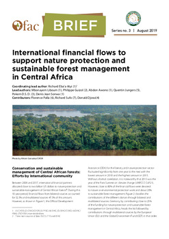 OFAC-Brief : International financial flows to support nature protection and sustainable forest management in Central Africa