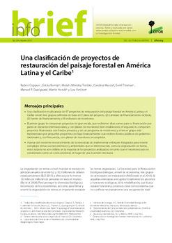 Una clasificación de proyectos de restauración del paisaje forestal en América Latina y el Caribe