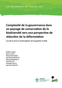 Complexité de la gouvernance dans un paysage de conservation de la biodiversité vers une perspective de réduction de la déforestation: Cas de la réserve de biosphère de Yangambi en RDC