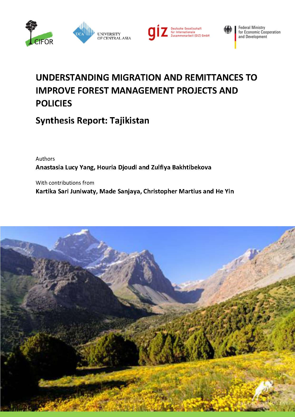 Understanding migration and remittance to improve forest management projects and policies: Synthesis Report: Tajikistan