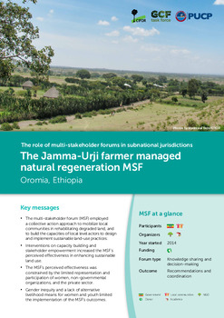 The Jamma-Urji farmer managed natural regeneration MSF: Oromia, Ethiopia
