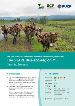 The SHARE Bale eco-region MSF: Oromia, Ethiopia