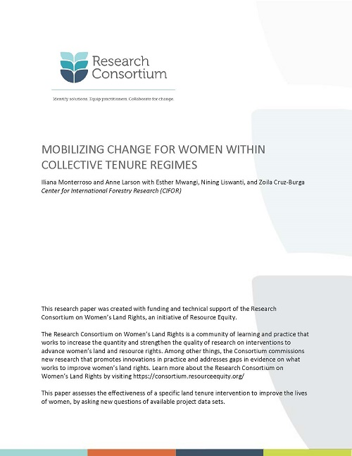 Mobilizing Change for Women Within Collective Tenure Regimes