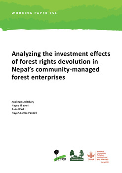 Analyzing the investment effects of forest rights devolution in Nepal's community-managed forest enterprises