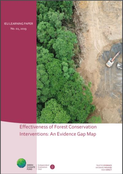 Effectiveness of forest conservation interventions: An evidence gap map