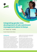 Integrating gender into development of sub-catchment management plans in Kenya: A 'how to' note