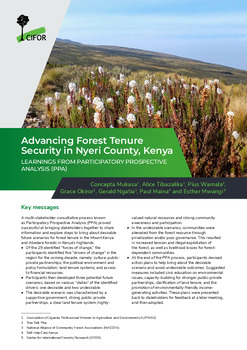 Advancing Forest Tenure Security in Nyeri County, Kenya: Learnings from participatory prospective analysis (PPA)
