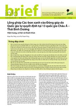 Lồng ghép Các-bon xanh vào Đóng góp do Quốc gia tự quyết định tại 13 quốc gia Châu Á - Thái Bình Dương: Hiện trạng, cơ hội và thách thức