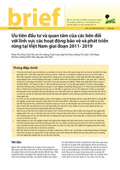 Ưu tiên đầu tư và quan tâm của các bên đối với lĩnh vực các hoạt động bảo vệ và phát triển rừng tại Việt Nam giai đoạn 2011- 2019