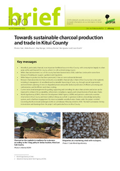 Towards sustainable charcoal production and trade in Kitui County