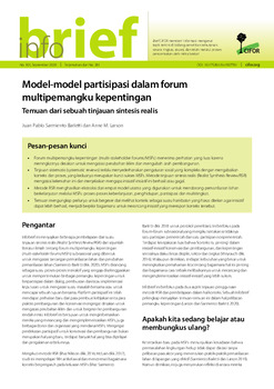 Model-model partisipasi dalam forum multipemangku kepentingan: Temuan dari sebuah tinjauan sintesis realis