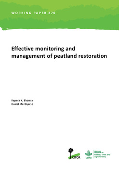 Effective monitoring and management of peatland restoration