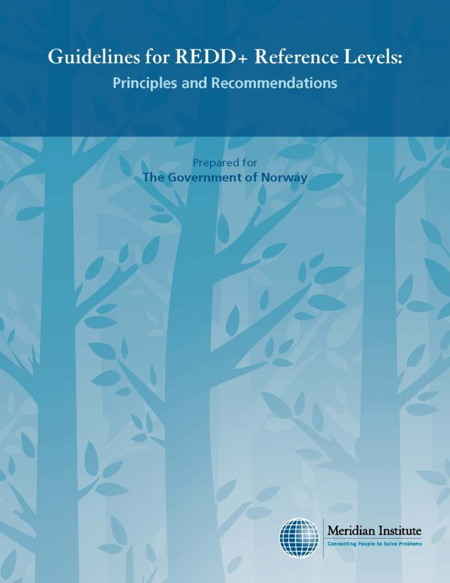 Guidelines for REDD+ Reference Levels: Principles and Recommendations