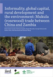 Informality, global capital, rural development and the environment: Mukula (rosewood) trade between China and Zambia