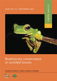 Biodiversity conservation in certified forests: an overview