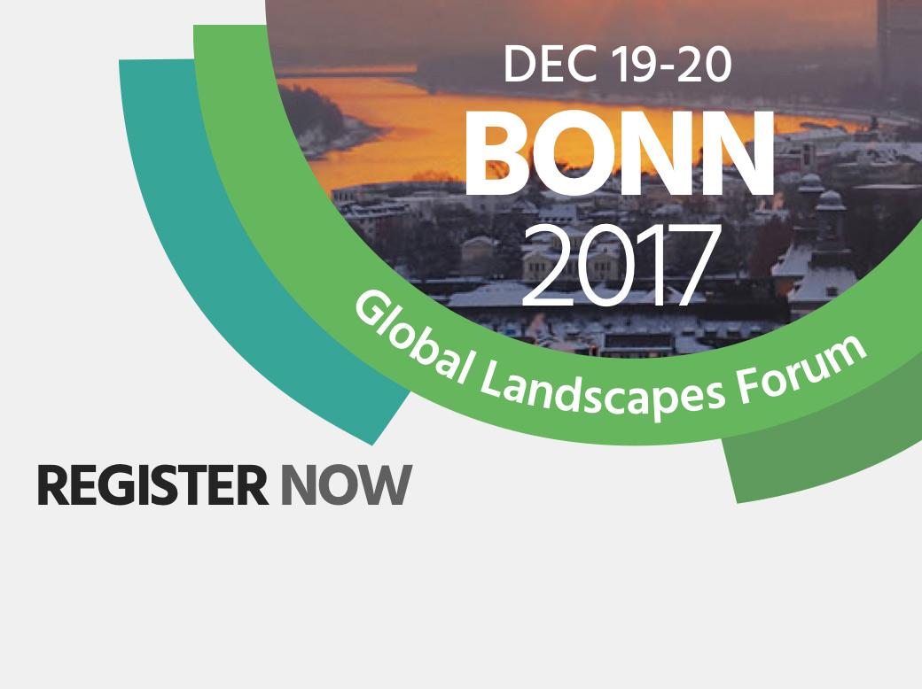 Join Global Landscapes Forum: Bonn 2017