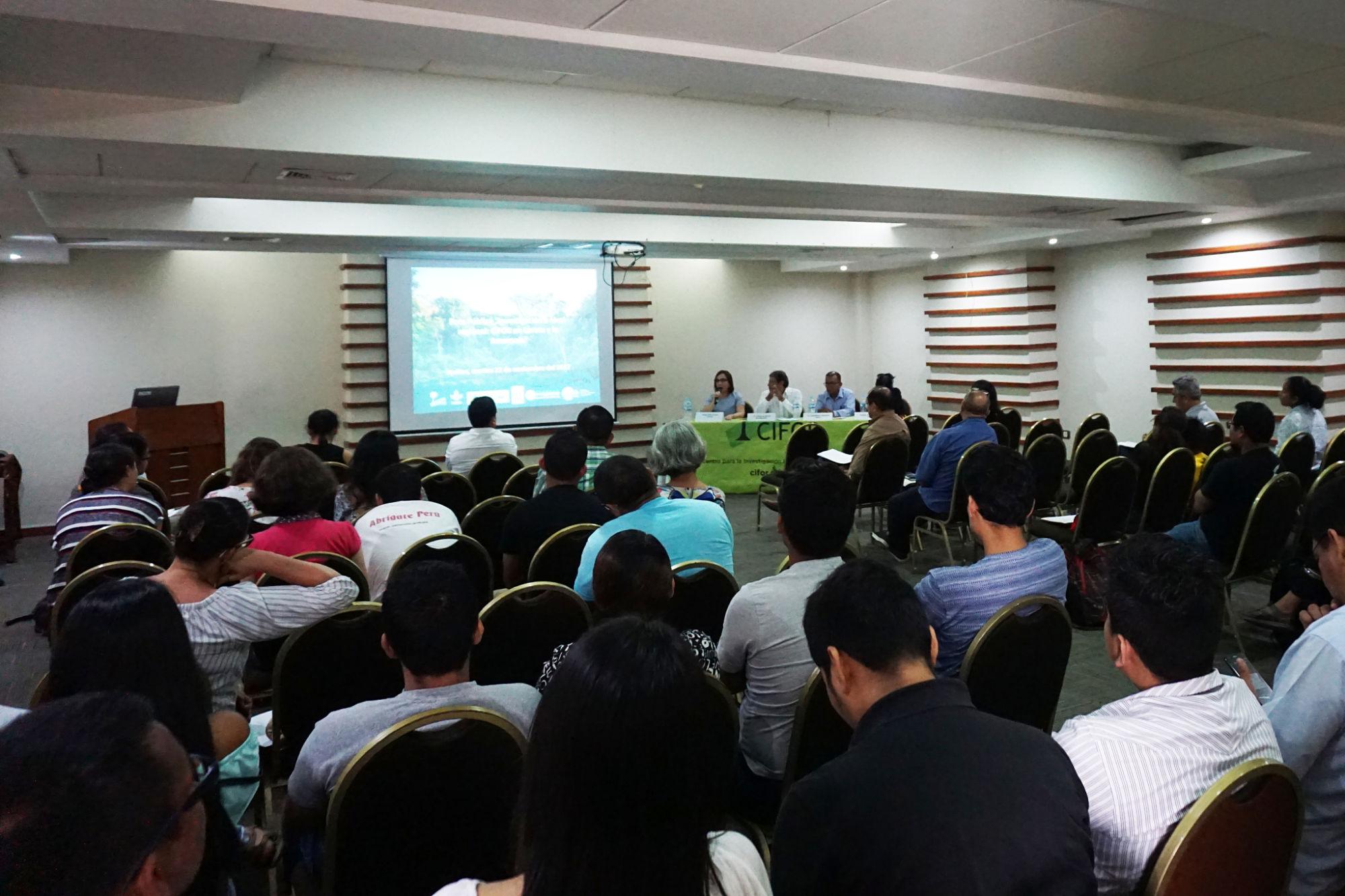 Investigadoras de CIFOR presentan resultados de estudios en la Amazonía peruana
